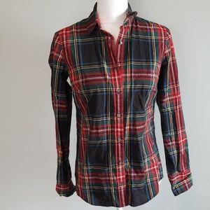 J.Crew Plaid Perfect Button Down Shirt
